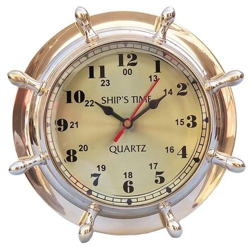 nautical-double-dial-wheel-clock-8 Nautical Clocks