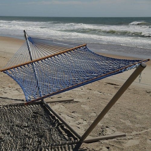 pawleys-island-blue-rope-hammock Best Rope Hammocks