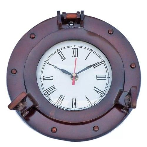 porthole-metal-nautical-clock-8 Nautical Clocks