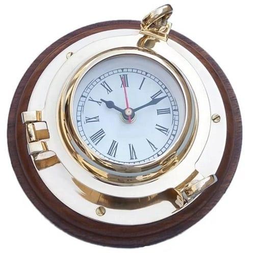 porthole-wall-clock-10 Nautical Clocks