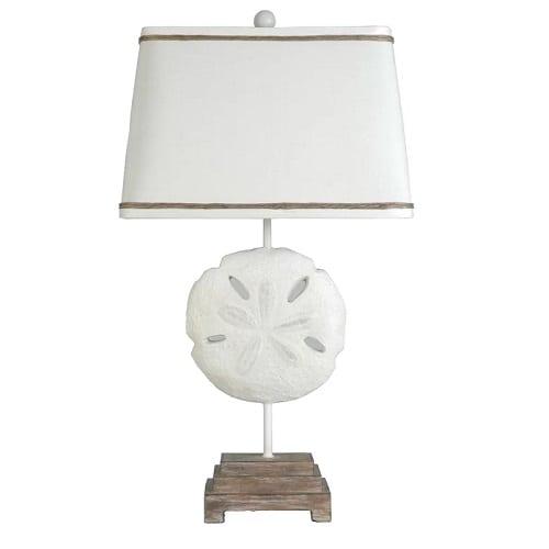 sand-dollar-table-lamp Beach Themed Lamps