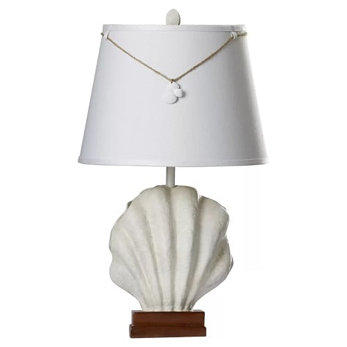 scallop-seashell-table-lamp Beach Themed Lamps