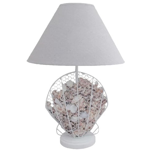 seashell-table-lamp Beach Themed Lamps