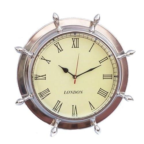 ship-wheel-clock-15 Nautical Clocks