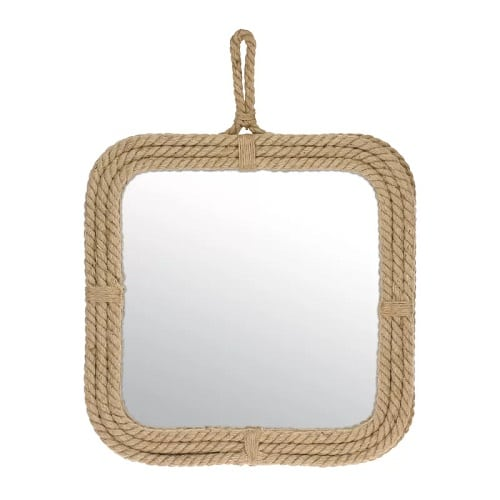 square-nautical-rope-mirror Coastal Mirrors and Beach Themed Mirrors