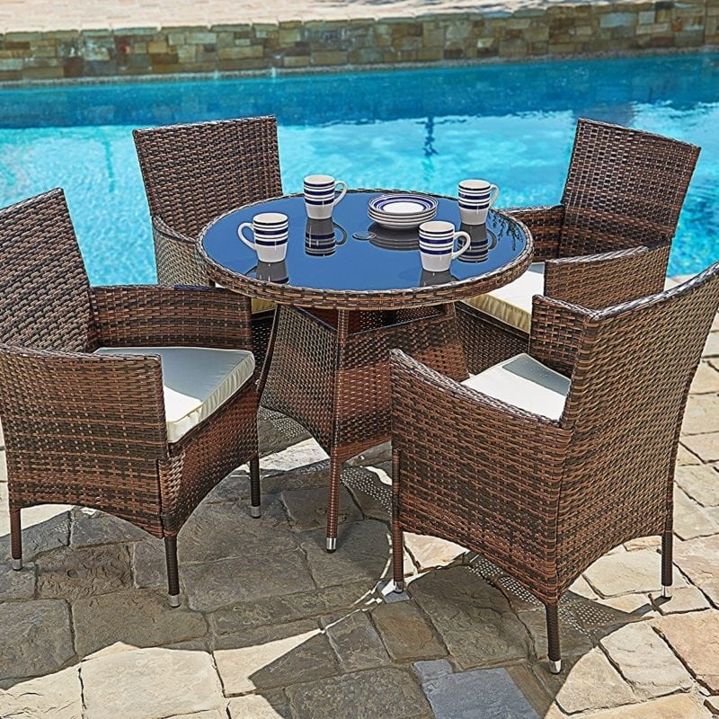 wicker-dining-sets Beach Decor