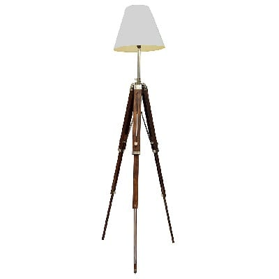Brass-Nautical-Classical-Marine-Floor-Lamp Nautical Themed Lamps