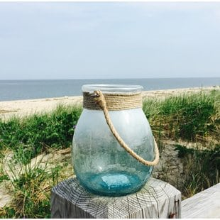 beach-glass-lantern Beach Wedding Lanterns & Nautical Wedding Lanterns