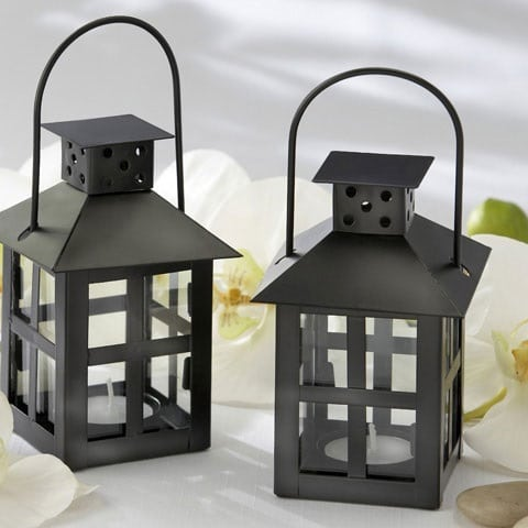 black-nautical-wedding-lantern Beach Wedding Lanterns & Nautical Wedding Lanterns