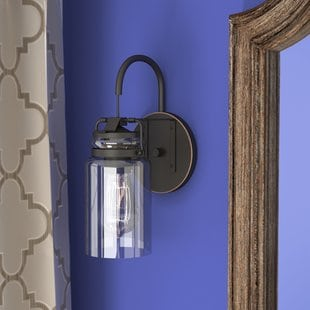 ehrhart-1-light-armed-sconce Beach Wall Sconces & Nautical Wall Sconces