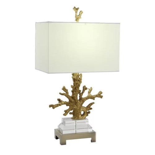 polystone-26-inch-gold-coral-lamp Coral Lamps