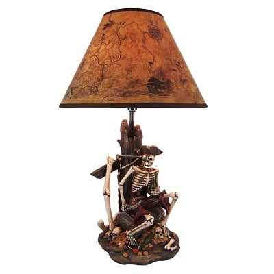 resin-table-pirate-skeleton-lamp Nautical Themed Lamps