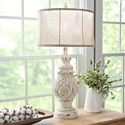 white-coastal-table-lamp 200+ Coastal Themed Lamps