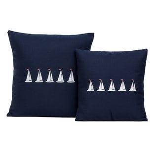 5-sailboats-coastal-throw-pillow Nautical Pillows and Nautical Throw Pillows