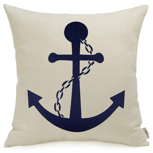 anchor-throw-pillow 100+ Nautical Pillows & Nautical Pillow Covers