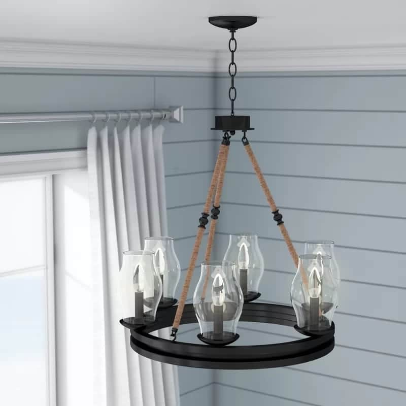 cobham-6-light-nautical-chandelier Beach Decor