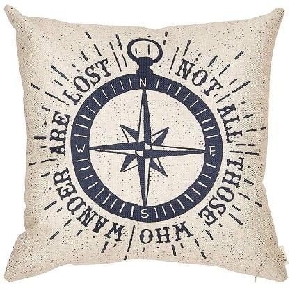 compass-throw-pillow 100+ Nautical Pillows & Nautical Pillow Covers