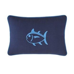 dock-street-embroidered-skipjack-cotton-lumbar-pillow Nautical Pillows and Nautical Throw Pillows