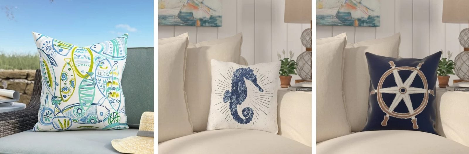 Nautical Pillows and Nautical Throw Pillows
