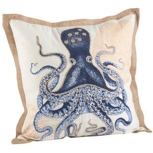 neptunian-octopus-cotton-throw-pillow Nautical Pillows and Nautical Throw Pillows