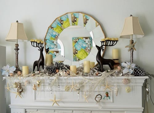 Beach-Christmas-Decorating-Idea-by-Houzz-User-RowenACherry 34 Beach Christmas Decorating Ideas For 2020