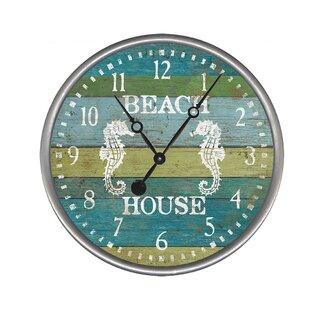 BeachHouseWallClock Nautical Themed Clocks