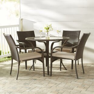Bennington5PieceDiningSetwithCushions Wicker Dining Tables & Wicker Patio Dining Sets