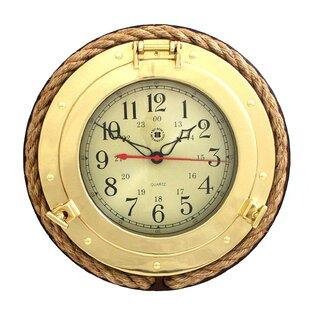 DevinePorthole822WallClock Nautical Themed Clocks