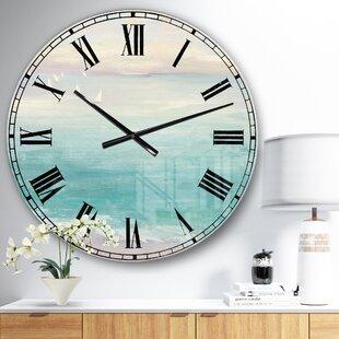 FromtheShore2322WallClock Nautical Themed Clocks