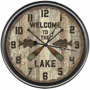 LakeOarsWallClock Nautical Themed Clocks