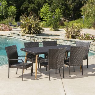 NarragansettOutdoorWicker7PieceDiningSet Wicker Dining Tables & Wicker Patio Dining Sets
