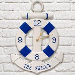 NauticalAnchorOutdoorWallClock Nautical Themed Clocks
