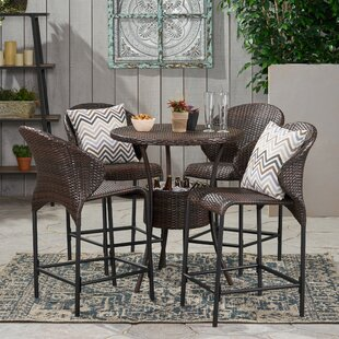 Nicodemus5PieceDiningSet Wicker Dining Tables & Wicker Patio Dining Sets