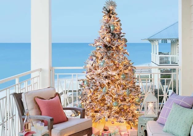 Outdoor-Beauty-Photo-by-Annie-Schlechter-Styling-by-Lindsey-Ellis-Beatty 25+ Beach Christmas Tree Ideas 2020