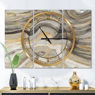 OversizedCanionGlamMetalWallClock Nautical Themed Clocks