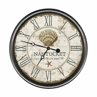 PersonalizedShellWallClock Nautical Themed Clocks
