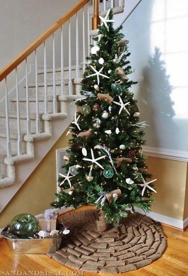 Seashell-Christmas-Tree-by-Sand-Sisal 25+ Beach Christmas Tree Ideas