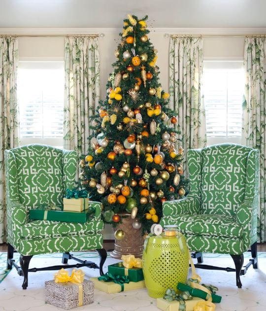 Tobi-Fairley-Holiday-by-Tobi-Fairley-Interior-Design 25+ Beach Christmas Tree Ideas