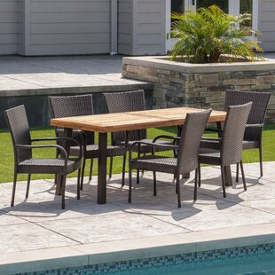Wicker7PieceDiningSet Wicker Dining Tables & Wicker Patio Dining Sets