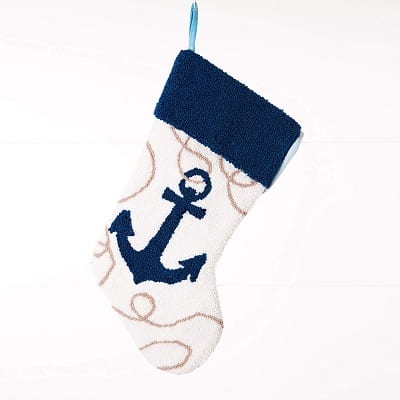 anchor-christmas-stocking 100+ Beach Themed Christmas Stockings For 2020