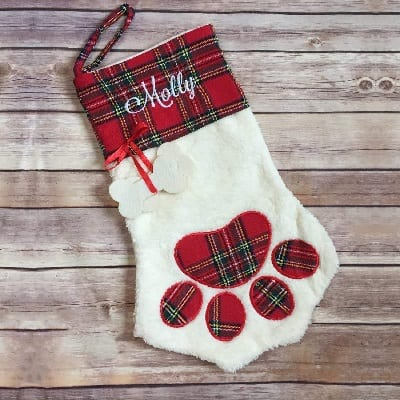 dog-or-cat-paw-christmas-stocking 100+ Beach Themed Christmas Stockings For 2020