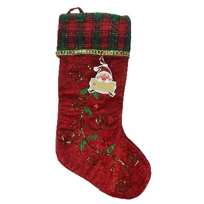 holly-leaves-christmas-stocking 100+ Beach Themed Christmas Stockings