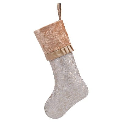 luxury-gold-beige-christmas-stocking 100+ Beach Themed Christmas Stockings For 2020
