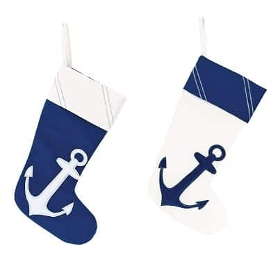 nautical-anchor-christmas-stocking 100+ Beach Themed Christmas Stockings For 2020