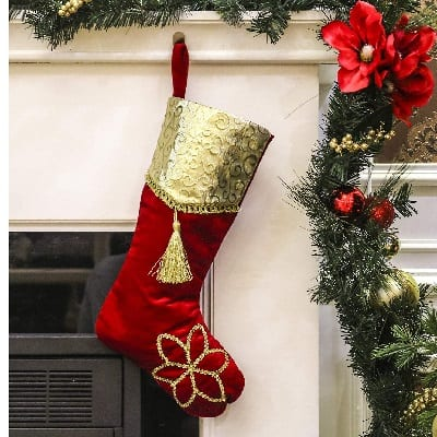 valery-madelyn-luxury-red-and-gold-christmas-stocking 100+ Beach Themed Christmas Stockings