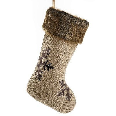 woodland-burlap-christmas-stocking 100+ Beach Themed Christmas Stockings For 2020