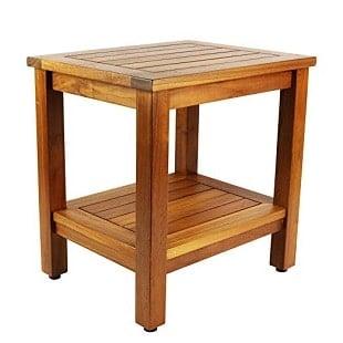18-inch-java-shower-bench-teak-wood Teak Shower Benches For Sale