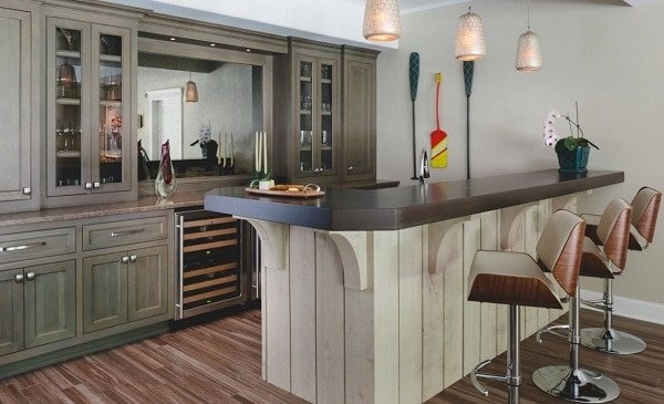 Delightful-Terrace-Level-in-Roswell-by-Handcrafted-Homes-Inc Tiki Bar Ideas & Tiki Bar Decorations