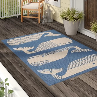 Janiyah-Blue-White-Indoor-Outdoor-Area-Rug Beach Rugs & Beach Area Rugs