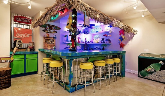 Luxury-Custom-Home-LaGrange-Illinois-by-The-Design-Bars Tiki Bar Ideas & Tiki Bar Decorations